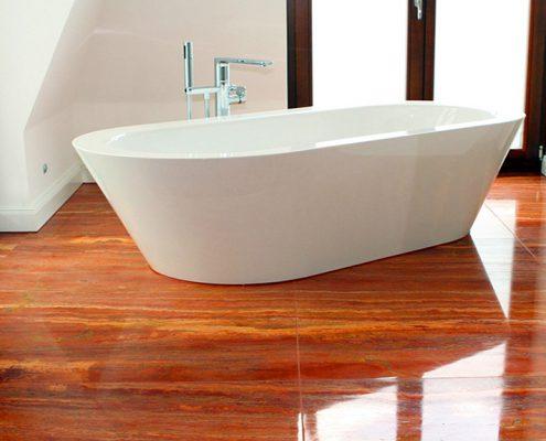 Travertino-Rosso-Persia-marmor-badewanne