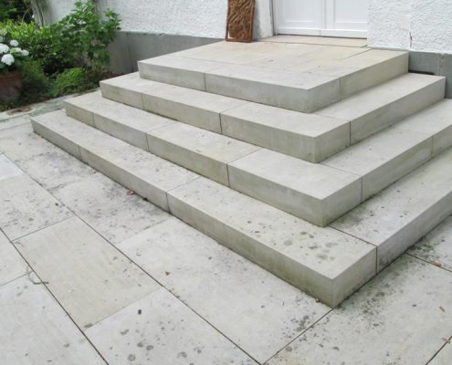 Treppenanlage-Sandstein-Reinigung