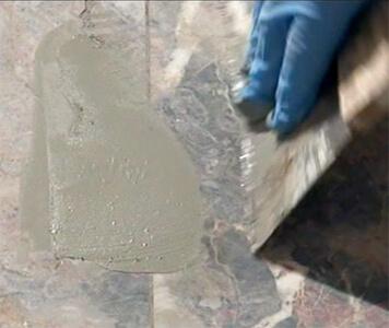 Reparatur von Steinböden, Arbeitsplatten & Waschtischen mittels Micro-Spritztechnik / Micro-Injektionsverfahren oder Stone-Smart-Repair-System - Stoffaneller Frankfurt