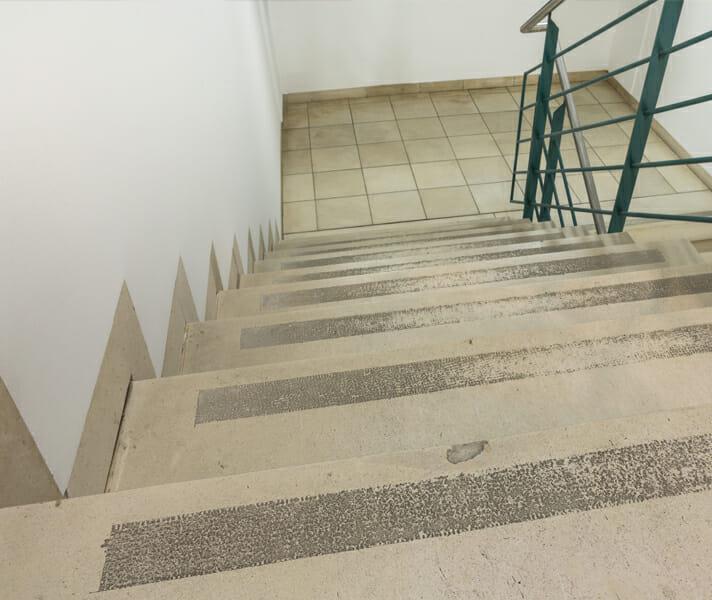 Treppenanlage vorher