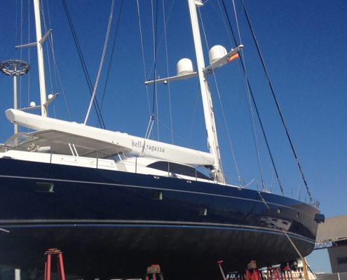 Yacht-Naturstein-Aufarbeitung