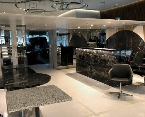 Yacht-Foyer-Kalkstein-Reparatur