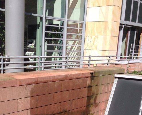 Fassade-Sandstein-reinigen-impraegnieren